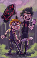 Punk Rick and Morty by Atherist