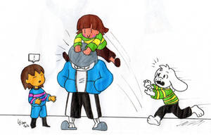 Undertale quick drawing #38:Chara stop ! by Gigagoku30