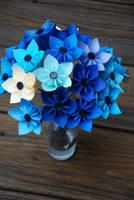 Shades of Blue Kusudama by lisadeng
