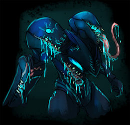 Eldrich Dark Samus 1 by Cryophase