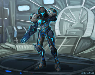 PED Suit Dark Samus by Cryophase