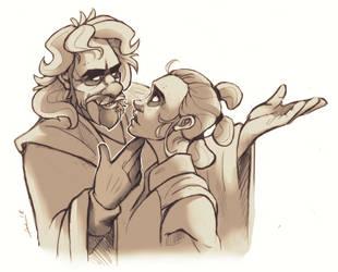 Luke and Rey by LameReaper