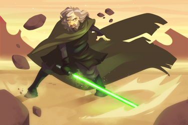 Master Skywalker Throwdown by LameReaper