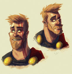Thor Sketches by LameReaper