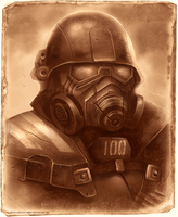 Fallout: Riot gear by Static-ghost