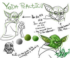 Yoda Practice by Asenceana