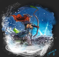 Huntress of the Frozen Wilds by Asenceana