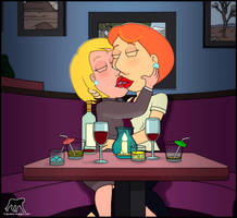 blame the booze for that kiss by Luberne