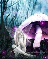 Alone in magic by LittleFairyArt