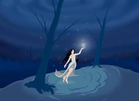 Winter Fireflies by mogstomp