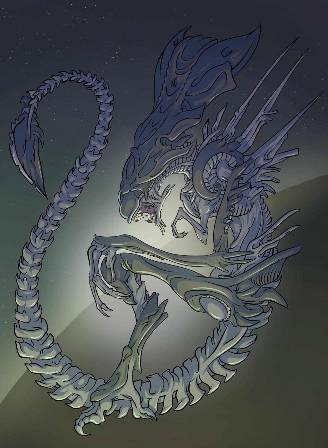 Xenomorph Queen by mogstomp