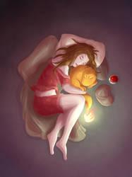 Charmander Nap by mogstomp