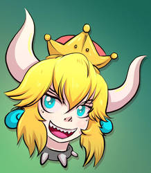 Bowsette by mogstomp