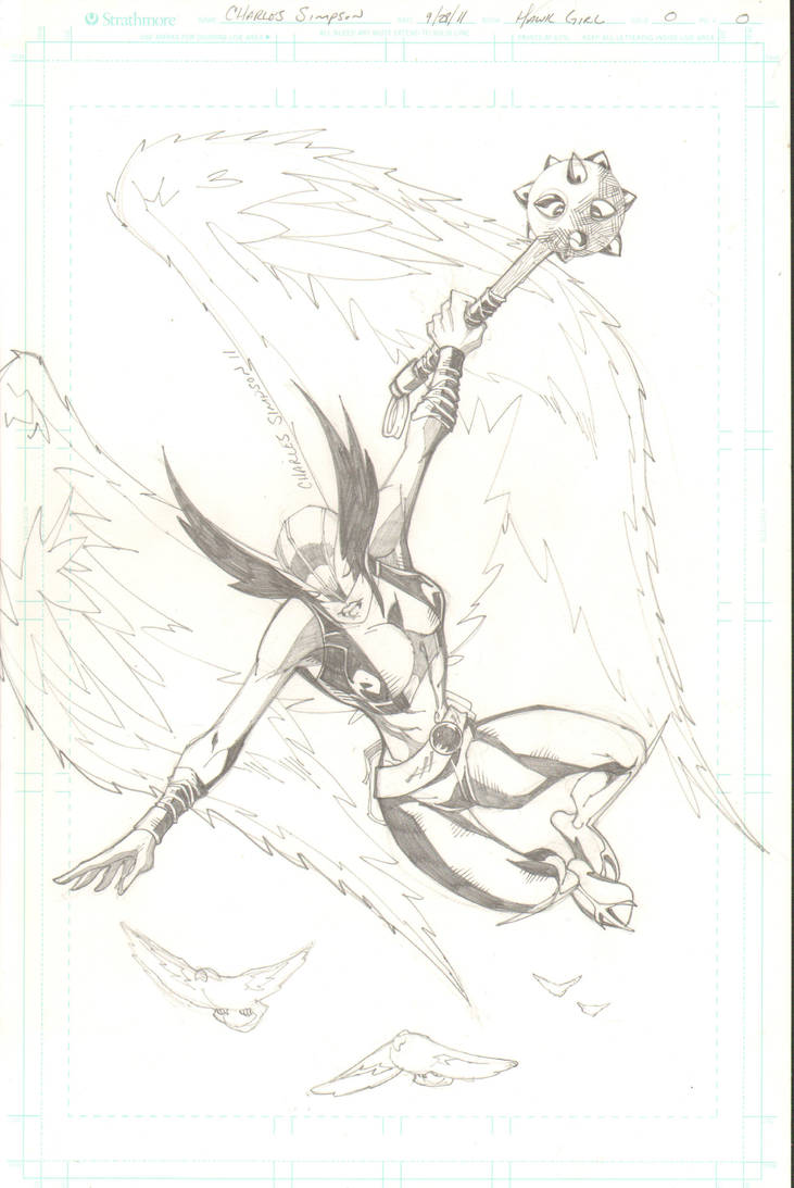 hawkgirl by charlessimpson