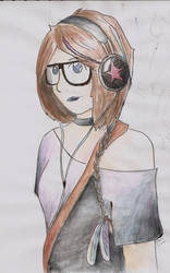 Headphones girl by Amici314