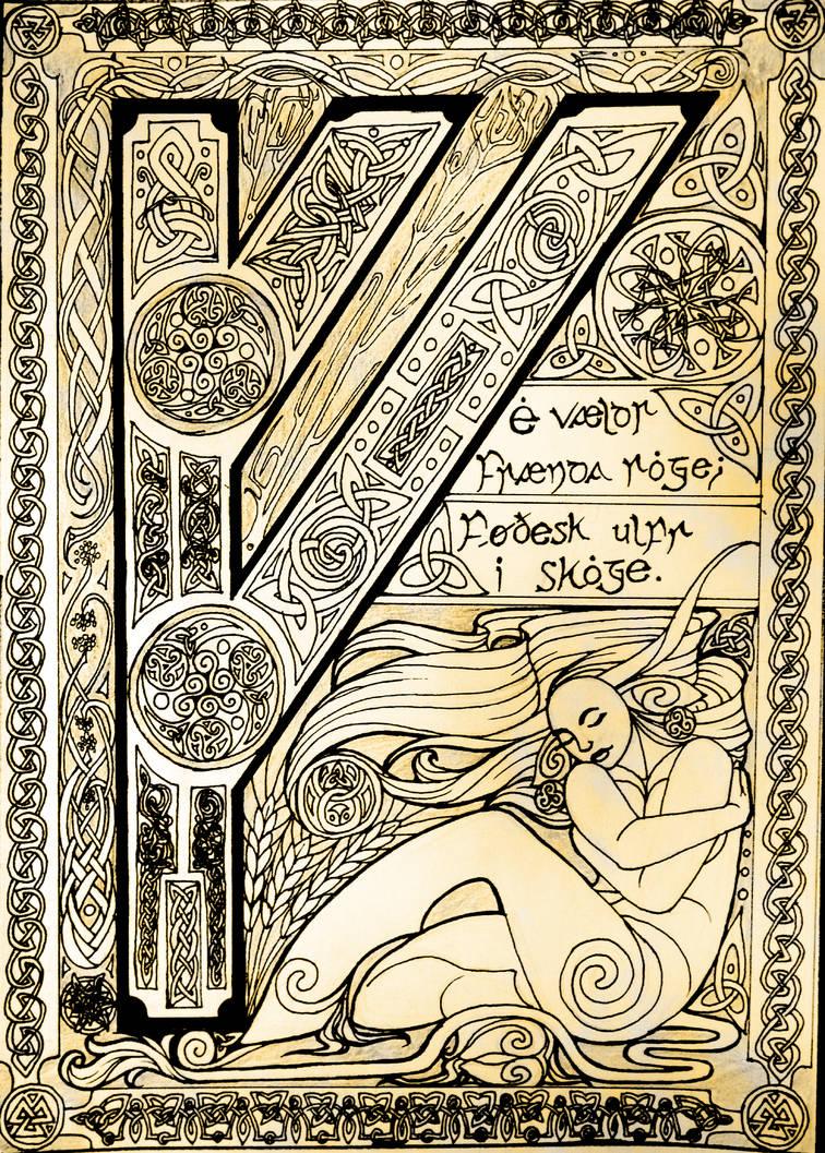 Runic Illumination - Fehu by EjLowell