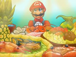 Mario Sea's food by Smash-Wolf