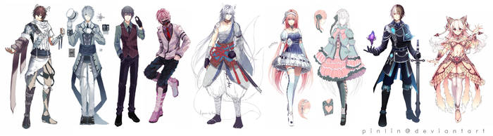 Character Designs by Pinlin