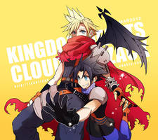 Kingdom Hearts Cloud and Zack by tank2109