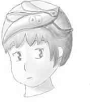 A girl with fancy hat by ProgerXP