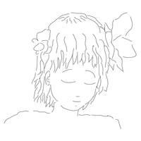 A girl's face by ProgerXP