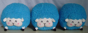 Cotton Candy Sheep Plush! _Blue by pinkplaidrobot