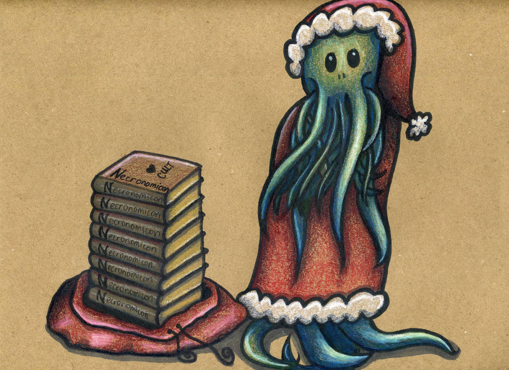 Cthulhu Santa by Watyrfall