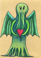 Can I haz your heart Cthulhu by Watyrfall