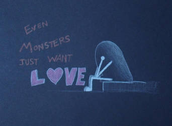 Even monsters just want love by Watyrfall