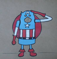Gumdrop Superhero: Captain America by Watyrfall