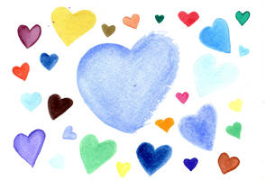 Water Color Heart02 by Watyrfall