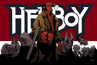 hellboy poster by a-archer