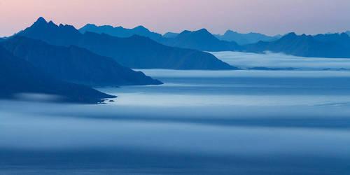Fingers of Mist, Lofoten by Alex37