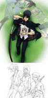Kuroko and Kitten: the humans by klinanime
