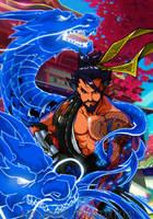 Hanzo Shimada-Overwatch by Abylaikhan