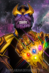 Thanos-Avengers: Infinity War by Abylaikhan