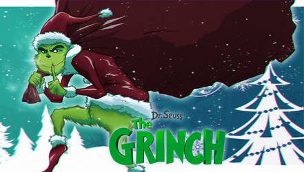 The Grinch 2018 cartoon by Abylaikhan