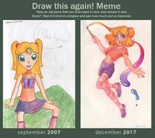 Draw it again! Meme - 10 years of sketchbooks by Annorelka
