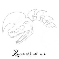 Dragco's skull by NikuComics