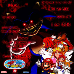 Mario and Sonic at TSD - The Demon Lord Sonic by yugioh1985