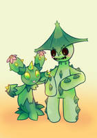 Maractus and Cacturne by pekou