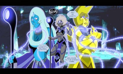 Jet, Blue Diamond, and Yellow Diamond Indigo Tribe by TheGraffitiSoul