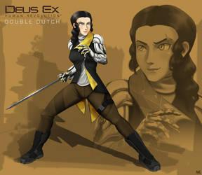 Deus Ex OC Commission by TheGraffitiSoul