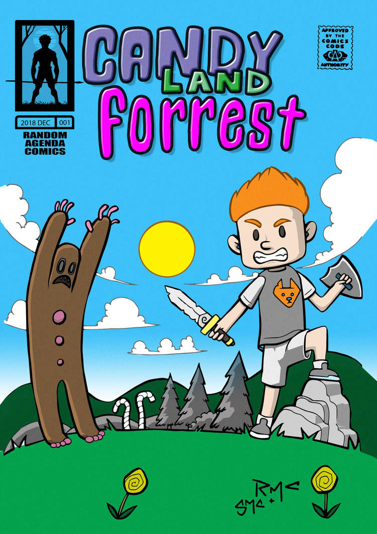 candy land Forrest cover art colour. by micma