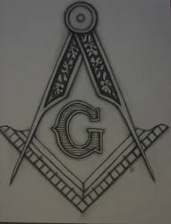 Freemason Compass and square by scien0