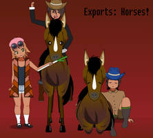 Exports: Horses! by PizzaBurgers