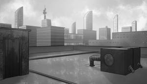 Building rooftop day by FabianCobos