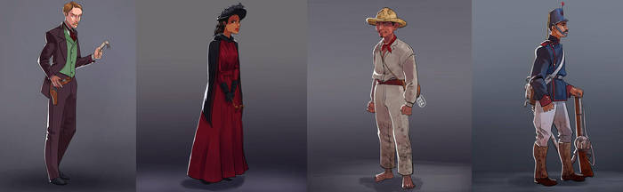 Characters steampunk by FabianCobos