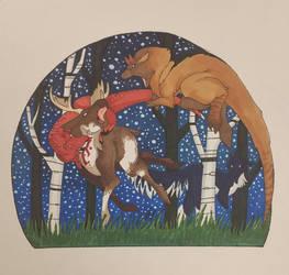 Moose hunt  by Xenoraptors