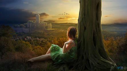 Watching Old Castle Photoshop Manipulation Tut by PhotoshopNJ